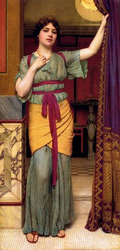 A Pompeian Lady  Artist:	John William Godward  Country of Origin:	United Kingdom  Date of Creation:	1895 AD