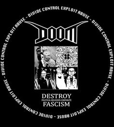 Crust-punk pioneers Doom blast corrupt system Arte Punk, Punk Poster, 70s Punk, Crust Punk, Music Flyer, Anti Religion, Flyer Printing, Metal Albums, Slogan Tshirt