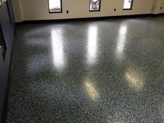 Durable and decorative epoxy flake floor coating in Findlay, Ohio. https://decorativeconcretekingdom.wufoo.com/forms/sure-seal-concrete-protection/