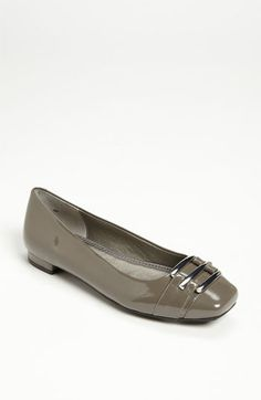 Me Too 'Daphne' Flat in grey patent   Nordstrom $94.95