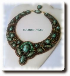 """InKetten: Bead Embroidery; """"Orchid"""" - my first collar - finished!"""