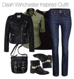"""""""Supernatural - Dean Winchester Inspired Outfit"""" by staystronng ❤ liked on Polyvore featuring Jigsaw, Doublju, H&M, Timeless and ONLY"""