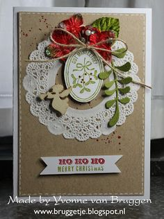 Yvonne's Stampin' and Scrap Blog: Christmas card with products from Stampin' Up!
