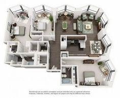 apartment floor plans new Ideas apartment building architecture floor plans bedrooms Sims House Plans, House Layout Plans, House Layouts, House Floor Plans, Apartment Layout, Apartment Design, Apartment Bedrooms, Sims House Design, Casas The Sims 4