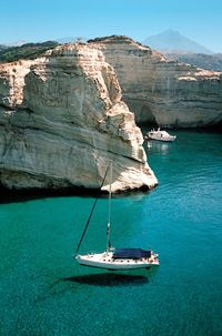 Our lovely overnight anchorage on the South West tip of the island of Milos