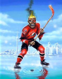Two of my favorite things, Maiden and Hockey.