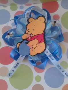 Baby Winnie the Pooh Baby Shower Corsage by CRYSTALMEMORIES, $9.50