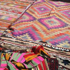 These Aztec rugs made me stop in my tracks @ Brooklyn Flea