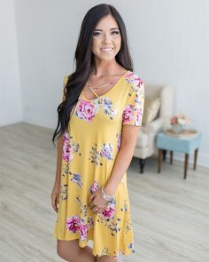 """73 Likes, 2 Comments - Liam's Loft Boutique (@liamsloft) on Instagram: """"Warmer weather means summer dresses and we couldn't be more thrilled! Our new Criss-Cross Floral…"""""""