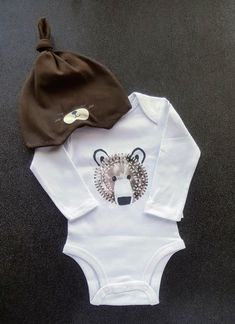7cd6da97b42 Bear Nordic Gift Set Baby Boys Boutique Bodysuit Onesie Beanie Hat Size 0 3  mo. Baby Shower Gifts Ideas Boy s Boys Boutique Clothing Sets