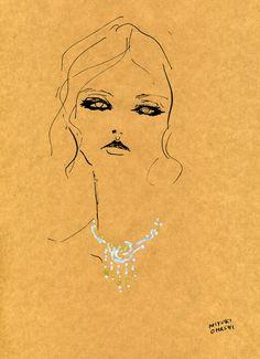 """""""Magdalena Frackowiak for Vogue Paris March 2012 issue"""" マグダレナ・フラッコウィアックがVogue Parisのビジューページに登場。 美女と ビジュー 、極上の組み合わせにうっとり。"""