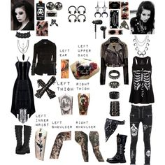 Christine Motionless/ Motionless In White Gender Bender Of Chris Motionless   Polyvore Outfit