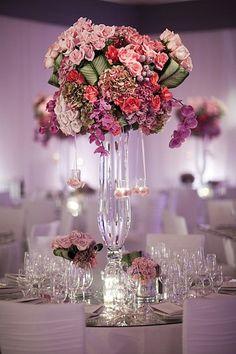 . centros de mesa altos para una boda!!