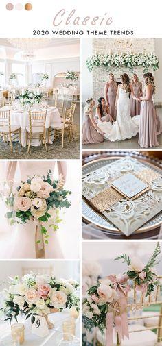 blush and ivory white classic wedding theme Classic Wedding Themes, Classic Romantic Wedding, Romantic Wedding Colors, Boho Beach Wedding, Jamaica Wedding, Timeless Wedding, Elope Wedding, Mod Wedding, Wedding Ideas