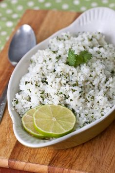 Cilantro-Lime Rice: SO good. Made a giant batch (quadrupled the recipe) and froze the extras. I used jasmine rice, olive oil instead of butter, and chicken broth as part of the water.