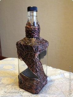 Эту бутылочку решила сделать в бронзе. Тоже в подарок... фото 1