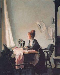 The Open Window ~ Elizabeth Vaughan Okie Paxton ~ (American: 1846-1902)
