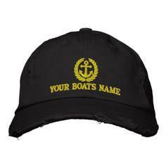 Personalized Sailing Boat Captains Cap