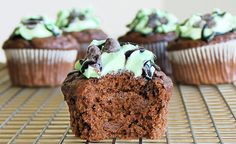 Monster Mint-Chocolate Chip Cupcakes (Chocolate-Covered Katie)