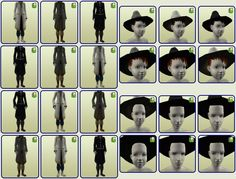 The Maxis Match Repository Project Supernatural Witch, Witch Outfit, Hat Hairstyles, Sims 2, Day, Maxis, Fictional Characters, Fantasy, Clothing