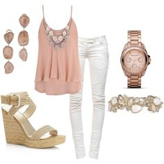 white jeans make every outfit look better! And you can mix anything with them!!!!