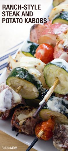 You have to try our ranch-style steak and potato kabobs for dinner tonight.