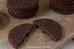 biscotti crudisti al cioccolato senza glutine, vegan, raw gluten free e olio di cocco fatti con essicatore 3