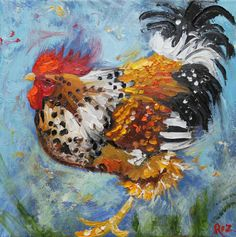 Horoz 475 10x10inch Baskı, yağlı boya tarafından Roz
