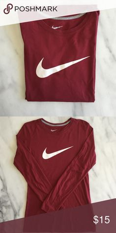 Nike Slim Fit Long-Sleeved Fits like a women's size S. In good condition. BUNDLE this for extra savings (see post for more details)! Nike Tops Tees - Long Sleeve