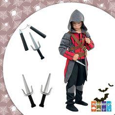 #Στολή Assassin's Creed για παιδιά που αγαπούν την περιπέτεια! Θα τη βρείτε στο #MySeason μαζί με όλα τα απαραίτητα #αξεσουάρ! 🎮⚔️  #Απόκριες #Καρναβάλι #assasinscreed