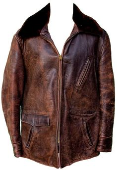 1950s Large Jacket Barnstormer Horse Hide by TopangaHiddenT
