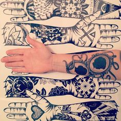 Love the idea of having the profiles of my kids tattooed somewhere...classy twist :)