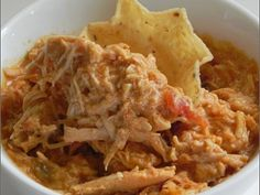 Crock Pot Creamy Chicken Taco - Super easy starter recipe for taco filling, nachos, quesadillas, etc www.getcrocked.com