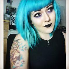 Black and Violet Haircolor, Makeup, Face, Style, Fashion, Hair Color, Make Up, Swag, Moda