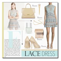 Lovely Lace Dress by carlavogel on Polyvore featuring polyvore, fashion, style, self-portrait, Jimmy Choo, Givenchy, Phyllis + Rosie, Bobbi Brown Cosmetics, Nails Inc., clothing, dress, lace and lacedress