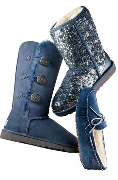 Love this UGG boot - Blue is the new black!