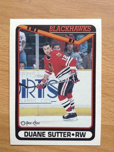 Duane Sutter | Chicago Blackhawks | O-Pee-Chee Hockey Cards | 89-90