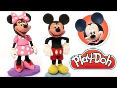 Mickey & Minnie Mouse Play Doh clay animation Disney Characters - YouTube