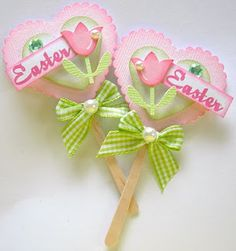 Pretty Easter Cupcake Toppers!
