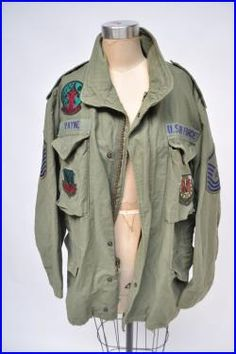 vintage military parka jacket coat mens small womens medium m65 hooded us AIR FORCE patches oversized boyfriend fit