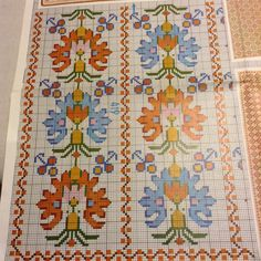 This Pin was discovered by Yen Folk Embroidery, Embroidery Patterns Free, Cross Stitch Embroidery, Embroidery Designs, Cross Stitch Borders, Cross Stitching, Cross Stitch Patterns, Palestinian Embroidery, Vintage Cross Stitches