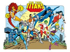 The Teen Titans by José Luis García-López from the 1982 DC Comics Style Guide