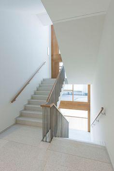 Auditorium Design, Railing Design, Staircase Design, Stair Detail, Minimal Architecture, Stair Handrail, Entrance Foyer, Modern Stairs, Interior Stairs
