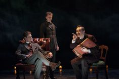 (L to R) Gregory Wooddell as Sherlock Holmes, Lucas Hall as Doctor Watson