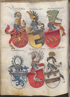 Grünenberg, Konrad: Das Wappenbuch Conrads von Grünenberg, Ritters und Bürgers zu Constanz um 1480 Cgm 145 Folio 145