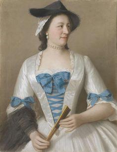 Jeanne-Elisabeth Sellon (1705-1749), Lady Tyrell, echtgenote van Sir Charles Tyrell, 7de Baronet van Thornton (Buckinghamshire), Jean-Etienne Liotard, ca. 1746