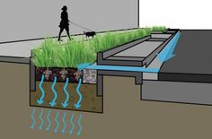 Simple Bioretention Basin Diagram. Click image for source and visit the slowottawa.ca boards >> http://www.pinterest.com/slowottawa/boards/