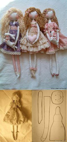 Куколки Тряпиенсы. Выкройка