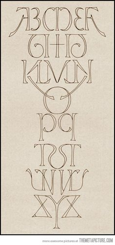 Mirror alphabet, i could see this on my wall.