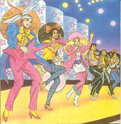 Barbie and the Rockers rocking it out 80's style